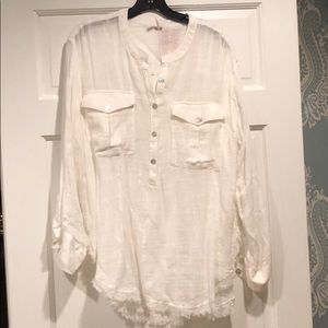 NWT Free People Linen Tunic